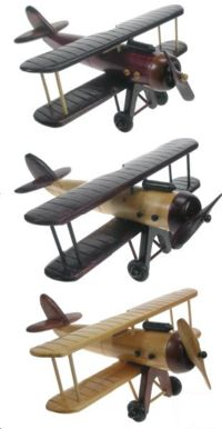 Superbe lot de 3 avions de collection en bois massif.. Fabrication 100% Made in France !