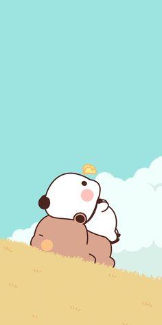 Cute Bunny Cartoon, Cute Kawaii Animals, Cute Cartoon Pictures, Cute Cartoon Drawings, Cute Love Cartoons, Cute Animal Drawings, Kawaii Drawings, Cute Panda Wallpaper, Cute Pastel Wallpaper
