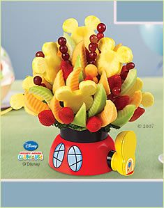 Mickey Mouse Fruit basket themed birthday parties, edible arrangements, idea, mickey mouse birthday, mous clubhous, edibl arrang, disney, mickey mouse clubhouse, fruit arrangements