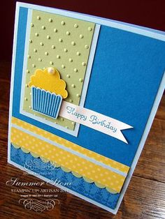 cute cupcake! & stampin up card                                                                                                                                                                                 More