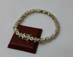Armband Silber 925 blaue Kristalle 20 cm SA205 von Schmuckbaron