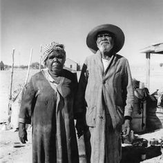 David Moore. Aboriginal couple, Finnis Springs Mission, South Australia – 1959