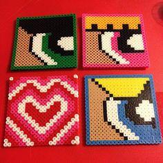 PowerPuff Girls coasters perler beads by wonderwoman91