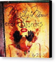 Marilyn Monroe Gentlemen Prefer Blondes 20160105 Canvas Print / Canvas Art by Wingsdomain Art and Photography  marilyn monroe marilyn monroe portrait portraits andy warhol andy warhol pop popart pop art contemporary celebrity celebrities retro hollywood graumans tcl chines…