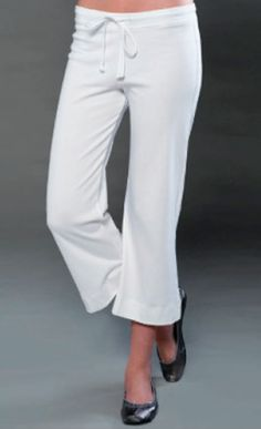 Ladies Low Rise Yoga Pant - Made in the USA Ladies Yoga Pants Made in the USA. Lounge in style with this flattering flared capri pant. Great for doing