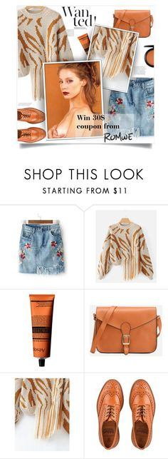 """""""Romwe contest"""" by smajlovicelvira ❤ liked on Polyvore featuring Aesop, Tricker's and MAC Cosmetics"""