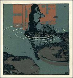 Carl Otto Czeschka (1878-1960), Sirène - vers 1900.