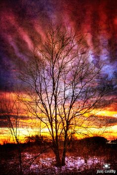 January Sunset Sky, by Jim Crotty on 500px