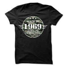 MADE IN 1969 AGED TO PERFECTION ARMY DESIGN T Shirt, Hoodie, Sweatshirt