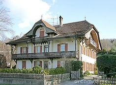 Old Swiss House 13 stock photo. Image of tree, traditional - 2090686 Swiss House, Yard, Traditional, Stock Photos, Mansions, Architecture, House Styles, Switzerland, Death