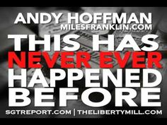 This Has NEVER EVER Happened Before At The Comex -- Andy Hoffman