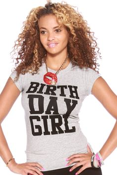 The Birthday Girl Shirt the best gift ideas for Women's Birthday Outfit Quinceanera, Bat Mitzvah, Sweet Sixteen, or bday party. A party supplies must Birthday Woman, Birthday Gifts For Girls, Birthday Shirts, 21st Birthday, Birthday Girl Shirt Womens, Birthday Ideas, Costume, Queen, Girl Day