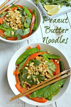Peanut Butter Noodles (Vegan and gluten free)