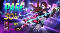 Page is now available in the Shop and will be 30% OFF for a limited time! Grab her while you can! #mobilemoba
