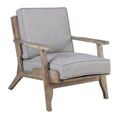Bring pleasant memories of the shore into your living room with the INK+IVY Malibu Lounge Chair. The chair features luxurious grey fabric and an incredibly unique aged driftwood frame. It is certain to make a cool and stylish addition to any seating area. Outdoor Lounge, Outdoor Chairs, Outdoor Furniture, Luxury Furniture, Adirondack Chairs, Furniture Chairs, Furniture Stores, Gray Furniture, Furniture Ideas