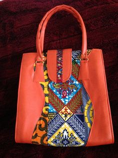 African Ankara Print Fabric Shoulder Bag/Women Handmade Tote/ Tribal Ethnic Design/Gift For Her by TrybLife on Etsy