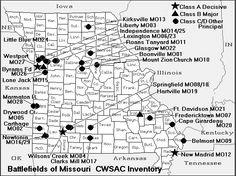 Map of Civil War battles in Missouri.gif