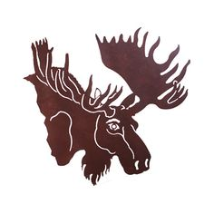 Bull Moose Head Laser Cut Wall Art Mural by CabinExclusive on Etsy
