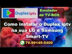 DUPLEX iptv - Novo para Smart-TV LG e Samsung instrucoes de instalacao Samsung Smart Tv, Box, Youtube, Snare Drum, Youtubers, Youtube Movies