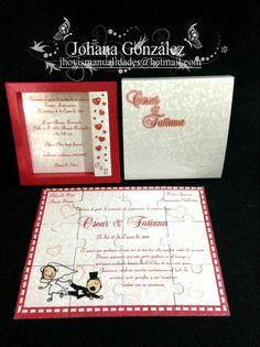 Tarjeta para Boda. Red Grey Wedding, Gray Weddings, Red And Grey, Wedding Invitation Design, Invitation Cards, Wedding Cards, Colors, Paper, Godmothers