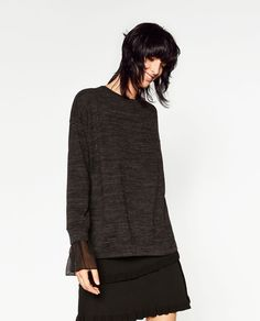 Image 2 of FRILLED CUFF SWEATER from Zara