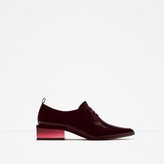 Image 1 of HEEL DETAIL BLUCHERS from Zara