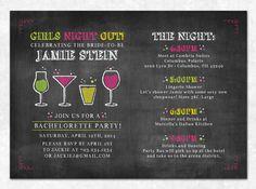 Chalkboard Bachelorette Invitation Printable by SweetDStationery