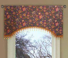 images of  purple drapes and window coverings   Richloom Purple Jacobean Floral Valance Curtain