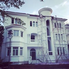 Rushing for completion #myworks #villa #facade #aluminum #construction