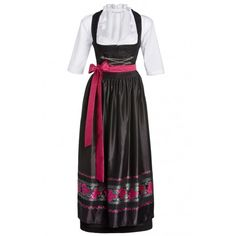Traditional Dirndl 3pcs Sandy 96cm black ❤ liked on Polyvore featuring dresses