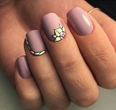 Маникюр. Дизайн ногтей. Art Simple Nail - #accentnails #accent #nails
