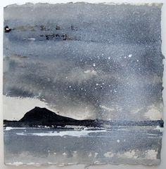 David Ross - Ardmore Point (ink on Khadi paper)