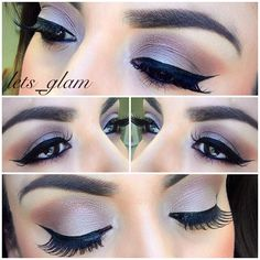 Makeup Ideas...I so want to master this winged eyeliner and this whole look. <3