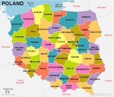 Poland States Map