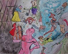 Title: Wish You Were Here   Medium: watercolor on paper
