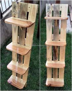 wood pallet shelf idea #woodworkingideas