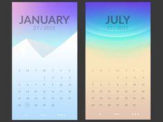 Calendar app #mobile #ui #ux #design #inspiration #navigation #app #interface #ios #android #flat #smartphone #visual #ui #ux #design #inspiration #navigation #app #interface #ios #android #flat #smartphone #visual #animation #motion #gif