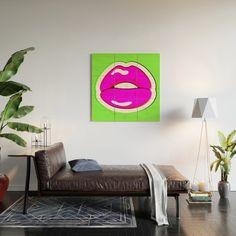 Kiss Me #buyart #popart #kissme #society6 Wood Wall Art