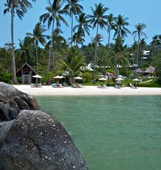 The breath-taking white sandy beach and tropical waters at Kamalaya in Thailand