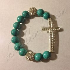silver cross turquoise beads 1a