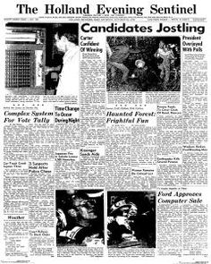 Holland Evening Sentinel, October 30, 1976 : Front Page