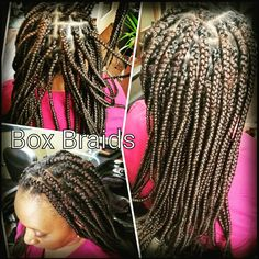 Box Braids on Natural Hair www.styleseat.com/theresaford