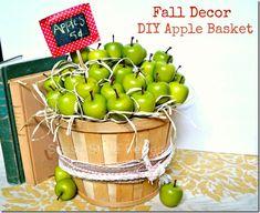 Fall decor {DIY apple basket} I Heart Nap Time   I Heart Nap Time - Easy recipes, DIY crafts, Homemaking