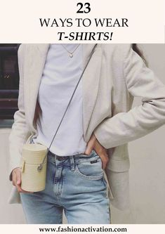 summer outfit ideas white t-shirt blue jeans mango bag outfits style
