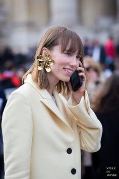 Anya Ziourova Street Style Street Fashion Streetsnaps by STYLEDUMONDE Street Style Fashion Blog