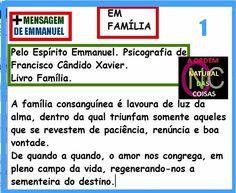 BIOGRAFIAS E COISAS .COM: VERSO DO DIA-FAMILIA+UMA MENSAGEM DE EMMANUEL