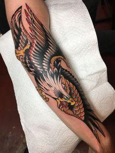 American Traditional Motorcycle Tattoo Sailor Jerry 60 Ideas For 2019 Eagle Tattoo Forearm, Bald Eagle Tattoos, Army Tattoos, Biker Tattoos, Elbow Tattoos, Star Tattoos, Celtic Tattoos, Wolf Tattoos, Skull Tattoos