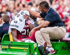 "marcus-lattimore-injury  Torn ACL, PCL, MCL, LCL, broken Femur, chipped Patella. ""Worst injury seen."" Pray for this man!!"