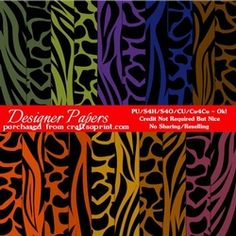 African Safari Colors Digital Pattern Papers package 2 on Craftsuprint - View Now!