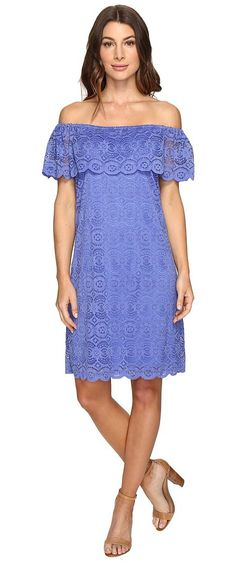 Christin Michaels Erie Lace Dress (Perrywinkle) Women's Dress - Christin Michaels, Erie Lace Dress, 137851RN-473, Apparel Top Dress, Dress, Top, Apparel, Clothes Clothing, Gift - Outfit Ideas And Street Style 2017